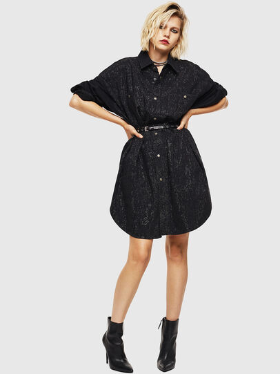 Diesel - DE-OBAX-SX, Black/Dark grey - Dresses - Image 7
