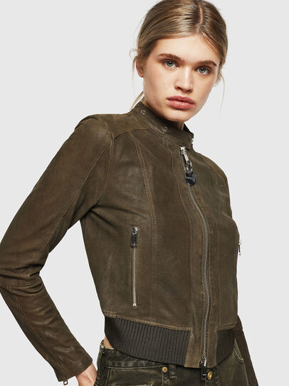 Diesel - L-LYSSA-G, Military Green - Leather jackets - Image 4