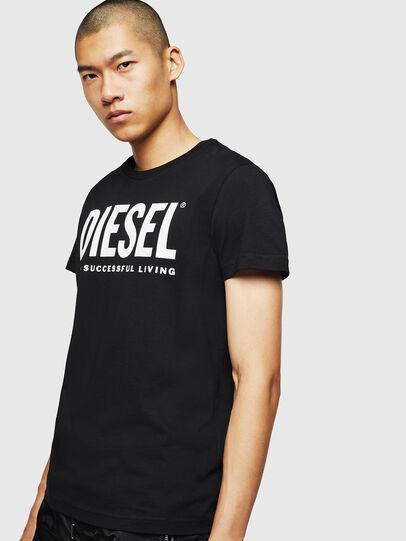 Diesel - T-DIEGO-LOGO, Black - T-Shirts - Image 4