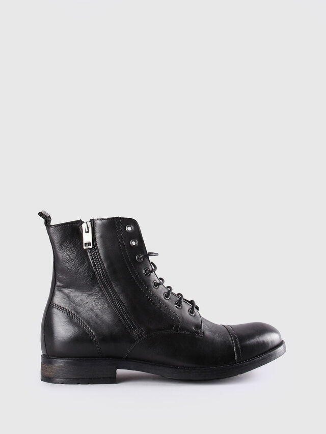 Diesel D-KALLIEN, Black Leather - Boots - Image 1