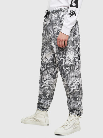Diesel - P-TOLL-KAOS, Black/White - Pants - Image 4