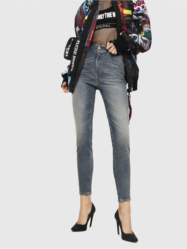 Diesel - Slandy High 085AZ, Medium blue - Jeans - Image 1