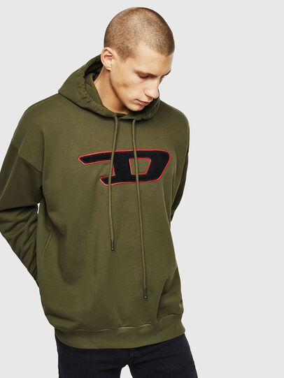 Diesel - S-DIVISION-D, Military Green - Sweaters - Image 1