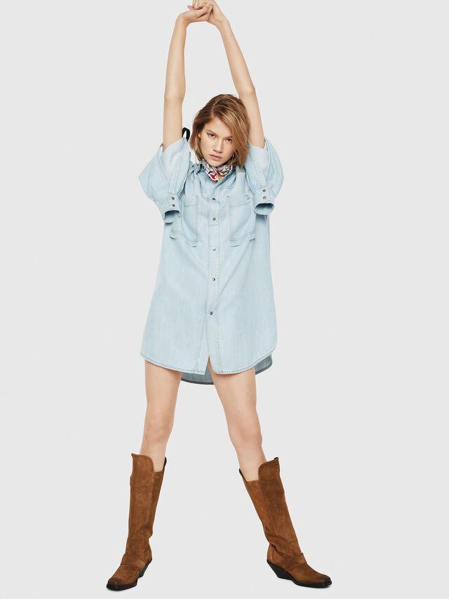 Diesel - DE-SUP, Blue Jeans - Dresses - Image 5