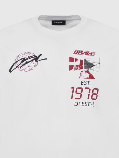 Diesel - T-DIEGOS-X43, White - T-Shirts - Image 3