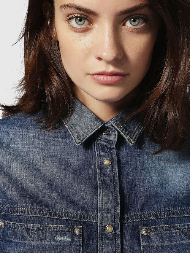 Diesel - DE-KERI, Blue Jeans - Denim Shirts - Image 4