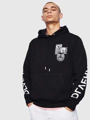 S-GIRK-HOOD-S4, Black - Sweaters