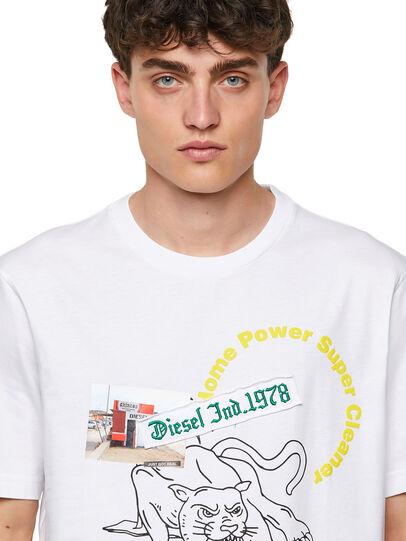 Diesel - T-JUST-B60, White - T-Shirts - Image 3
