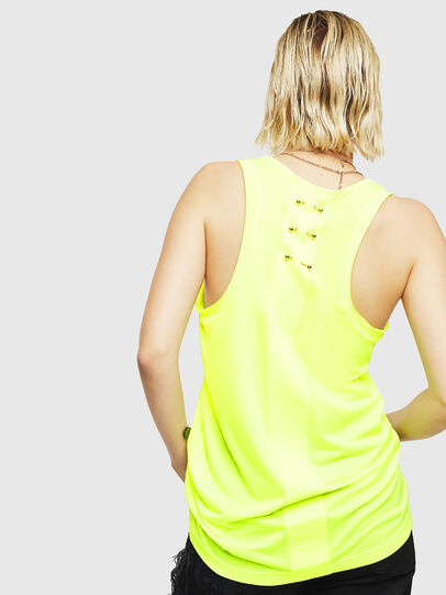 Diesel - T-KELLY, Yellow Fluo - Tops - Image 2
