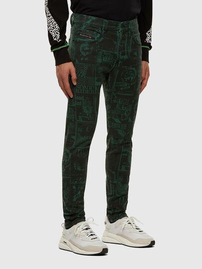 Diesel - D-Strukt 009GB, Dark Green - Jeans - Image 4