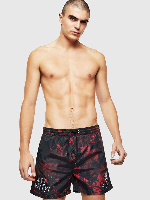 BMBX-CAYBAY, Black/Red - Swim shorts