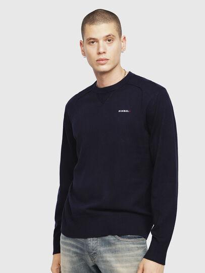 Diesel - K-LAUX, Dark Blue - Knitwear - Image 1