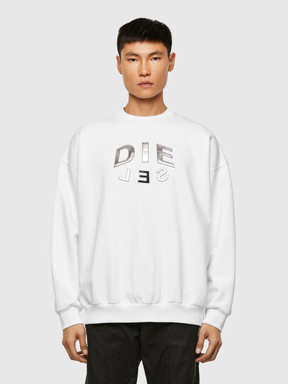Diesel - S-MART-A90, White - Sweaters - Image 1