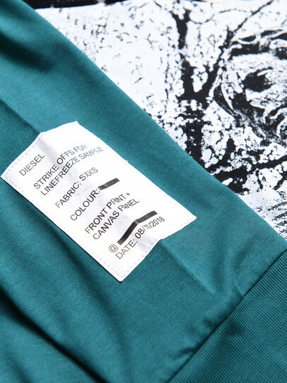 Diesel - TFONTYBJ OVER, Water Green - T-shirts and Tops - Image 3