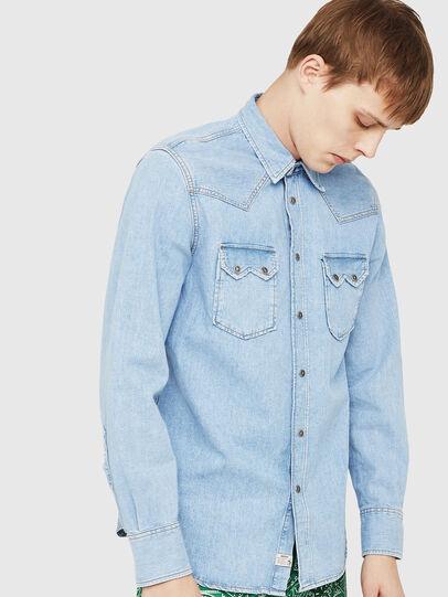 Diesel - D-LEO, Light Blue - Denim Shirts - Image 1