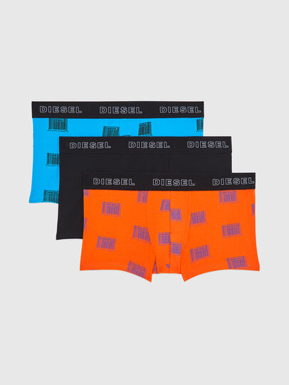 Diesel - UMBX-DAMIENTHREEPACK, Orange/Black - Trunks - Image 1