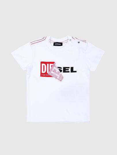 Diesel - TOQUEB MC, White - T-shirts and Tops - Image 1