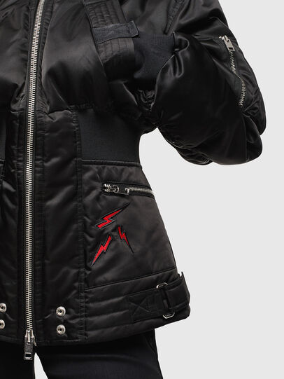 Diesel - CL-W-ISOKE-A-LITM, Black - Winter Jackets - Image 3