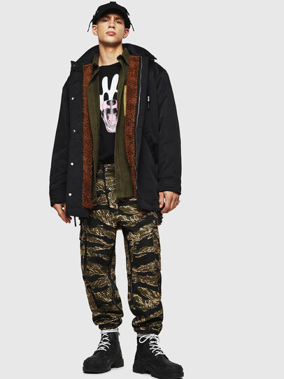 Diesel - W-PELSTIC, Black - Winter Jackets - Image 8