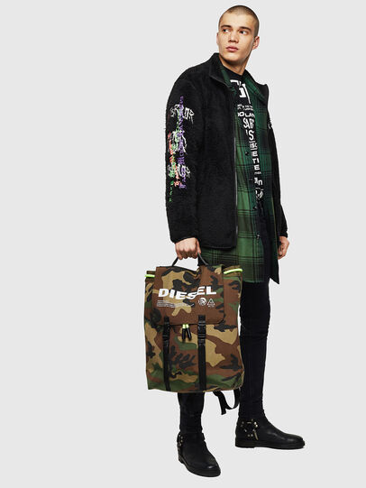 Diesel - VOLPAGO BACK, Green Camouflage - Backpacks - Image 6