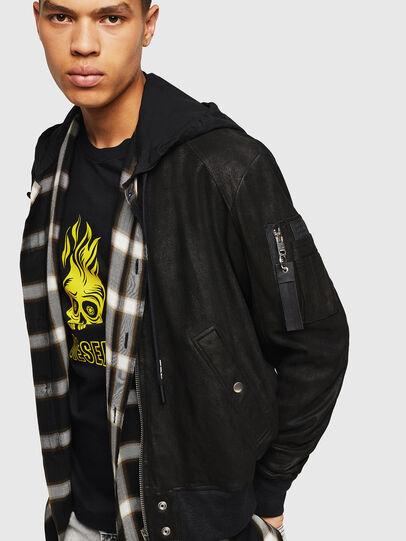 Diesel - L-NIKOLAI, Black - Leather jackets - Image 4