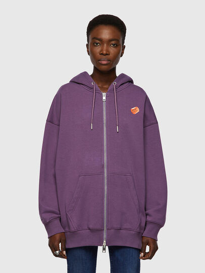 Diesel - F-GULLY-HOOD-ZIP, Dark Violet - Sweaters - Image 1