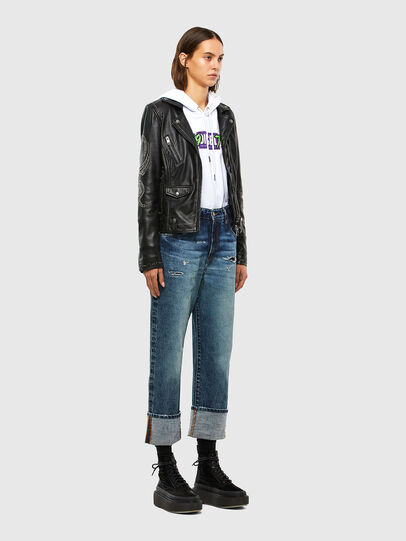 Diesel - L-DIANE, Black - Leather jackets - Image 7