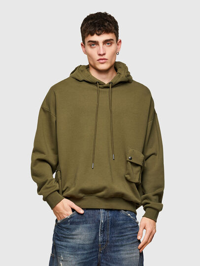 Diesel - S-ERPOCK, Military Green - Sweaters - Image 1