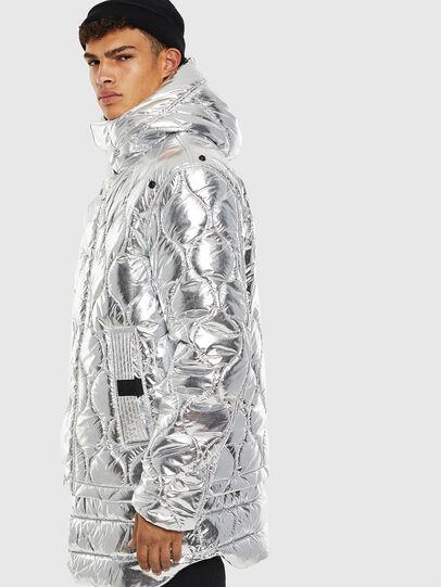 Diesel - W-CRAWFORD, Silver - Winter Jackets - Image 4