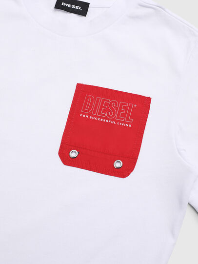 Diesel - TBMOW, White/Red - T-shirts and Tops - Image 3