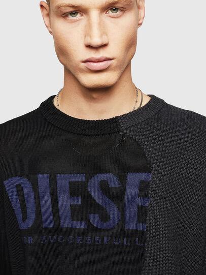 Diesel - K-HALF, Black - Knitwear - Image 3
