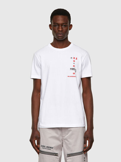 Diesel - T-DIEGOS-B4, White - T-Shirts - Image 1
