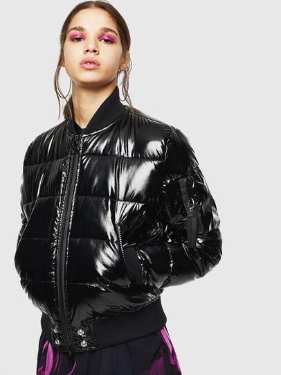 Diesel - W-ONY, Black - Winter Jackets - Image 1