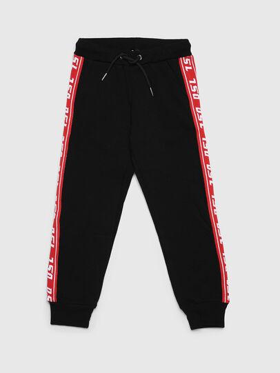 Diesel - PSUITA, Black/Red - Pants - Image 1