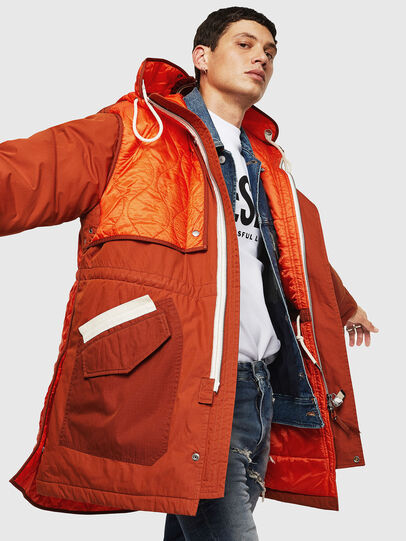 Diesel - W-KOVIK, Orange - Winter Jackets - Image 4