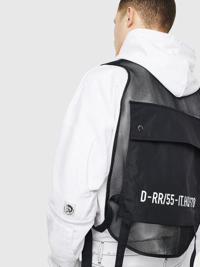 Diesel - J-FISHMESH, Black/White - Jackets - Image 6
