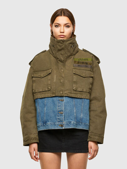Diesel - G-CHRISTINA, Military Green - Jackets - Image 1