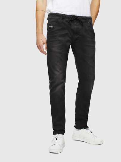 Diesel - Krooley JoggJeans 0670M, Black/Dark grey - Jeans - Image 1