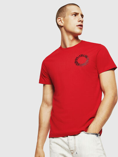Diesel - T-DIEGO-A12, Fire Red - T-Shirts - Image 1