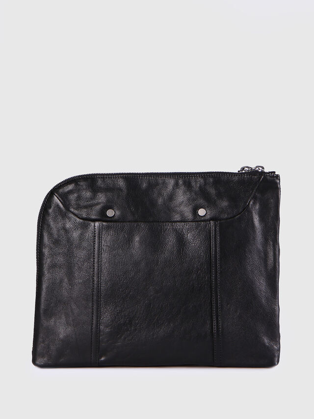 Diesel - L-L4CLUTCH, Black Leather - Clutches - Image 2