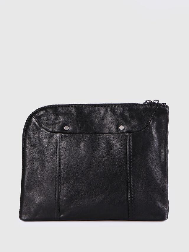Diesel - L-L4CLUTCH, Black Leather - Clutches - Image 2