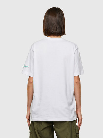 Diesel - T-JUST-B61, White - T-Shirts - Image 4