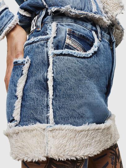 Diesel - DE-TILDRA, Medium blue - Skirts - Image 5