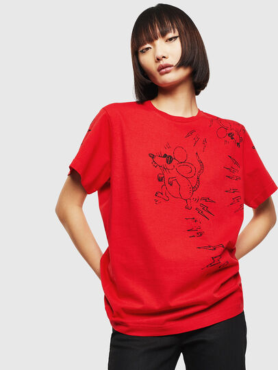 Diesel - CL-T-DIEGO-3, Red - T-Shirts - Image 2