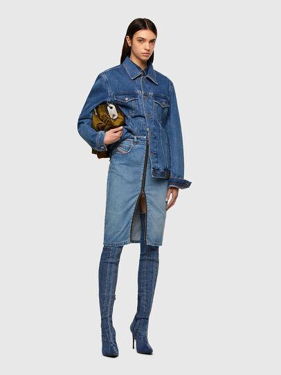 Diesel - DE-PENCIL-ZIP, Light Blue - Skirts - Image 5