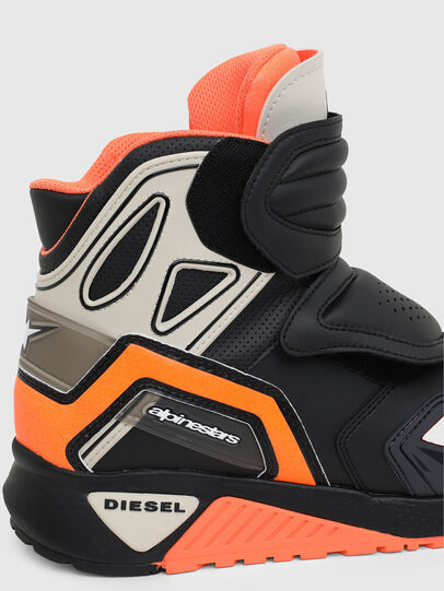 Diesel - ASTARS-SKBOOT, Black/Orange - Sneakers - Image 4