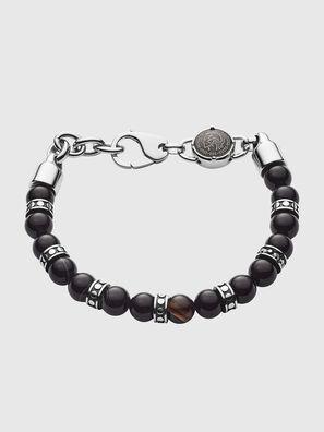 silver line bracelet with square black agates