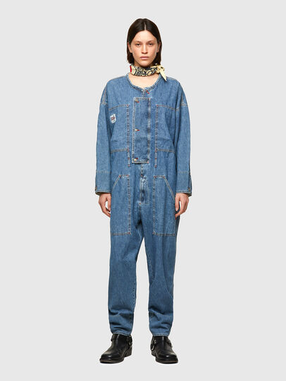 Diesel - DxD-TUTA, Light Blue - Jumpsuits - Image 3