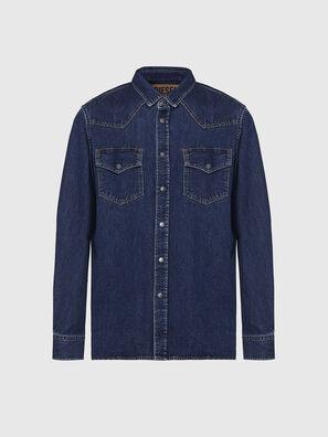 D-EAST-P, Dark Blue - Denim Shirts