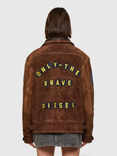Diesel - DxD-3, Brown - Leather jackets - Image 5